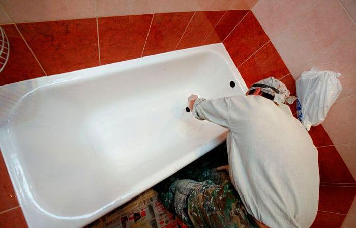 Покраска стальной ванны