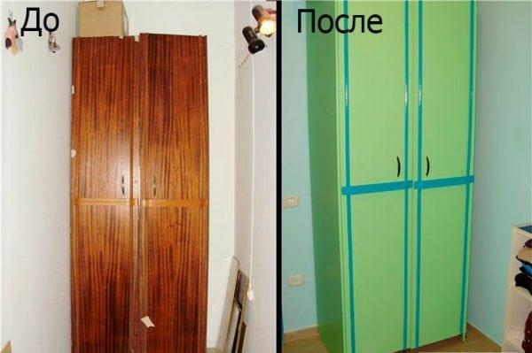 Как покрасить шкаф