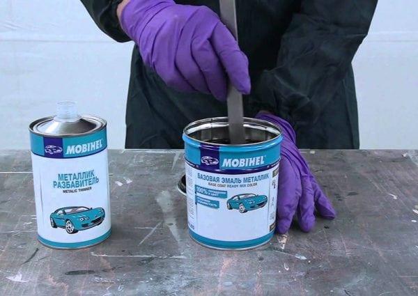 Как разбавить краску металлик