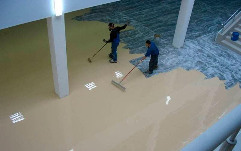 Краска по бетону, шпатлевка, лак для бетона, краски жидкая гидроизоляция для бетона цена