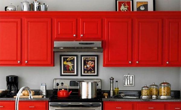 Покрасить фасад кухни