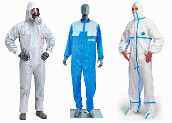 Виды защитных костюмов