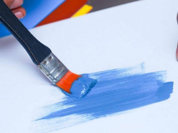 Тестируем краску кисточкой
