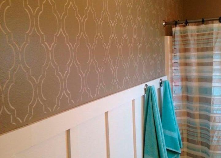Трафаретные валики для покраски стен фото мастика полимерные, белая