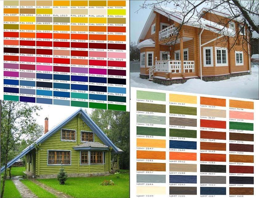 Выбрать цвет краски для стен деревянного дома гидроизоляция на тэс