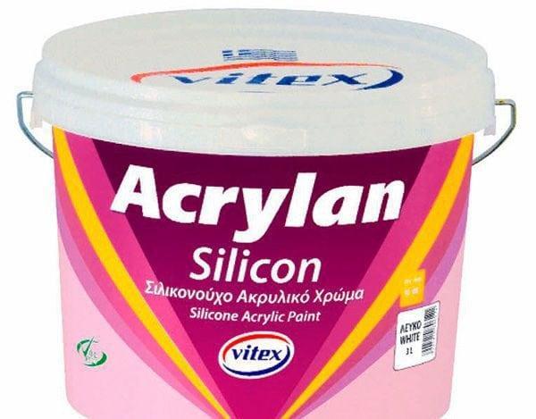 Краска с добавление силикона