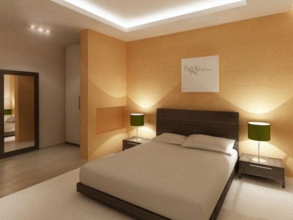 Стены спальни в пастельных тонах