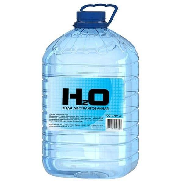 Дистиллированная вода для промывания