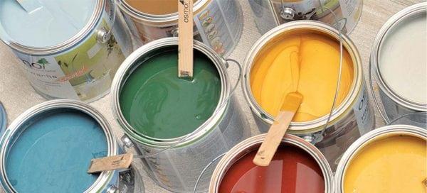 Краски разных цветов для дерева