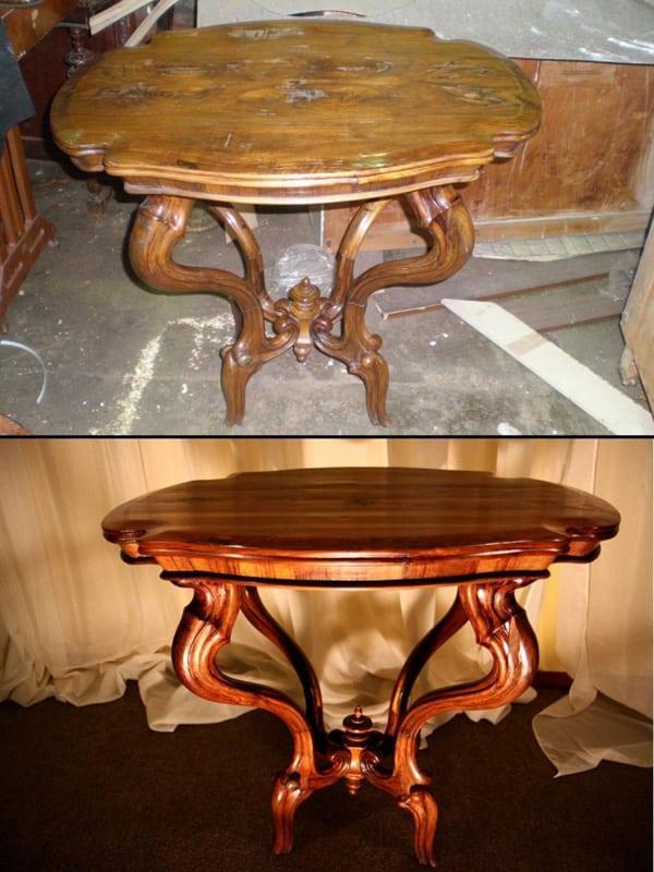 Как отреставрировать старый деревянный стол своими руками