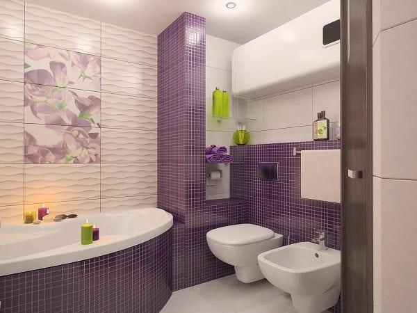 Частичное декорирование плиток в ванной