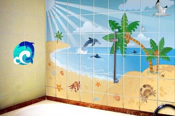 Краска для кафеля в ванной