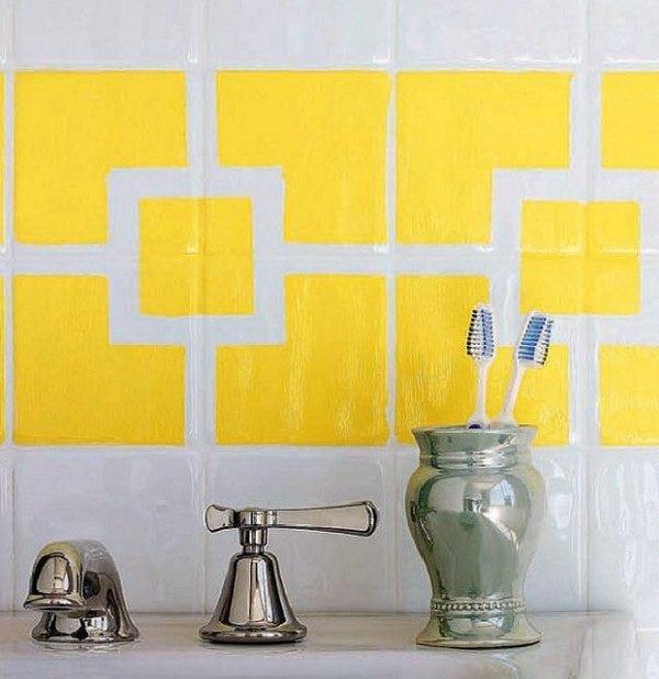 Акриловая краска для плитки в ванной
