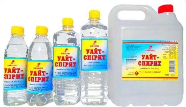 Уайт-спирит для удаления краски с пластика