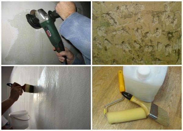 Подготовка поверхности с масляной краской