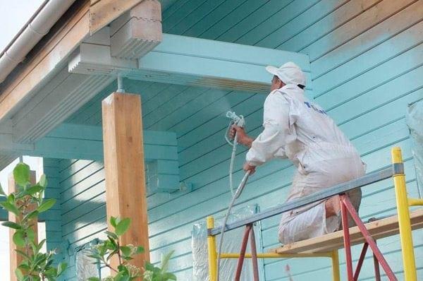 Нанесение краски безвоздушным краскопультом