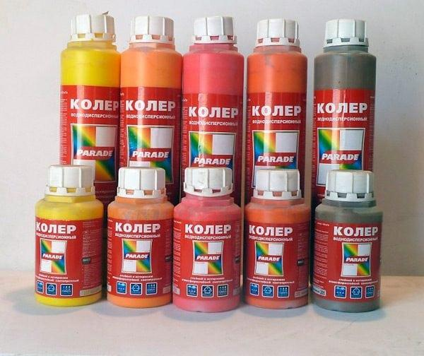 Колеры разных цветов