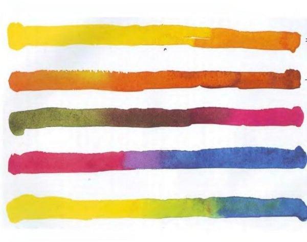 Приемы наложения цвета