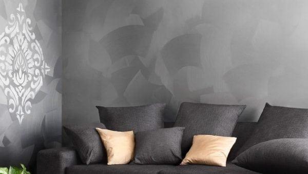 Перламутровая краска в интерьере дома