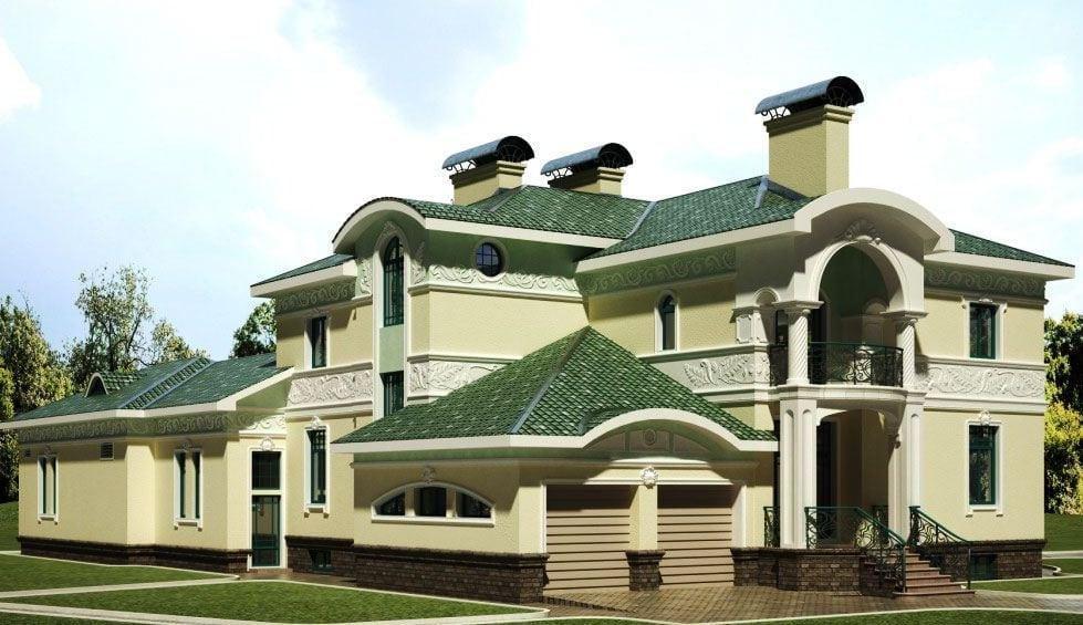 Фасадная краска для наружных работ цвета фото домов