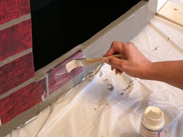 Покраска камина термостойкой краской