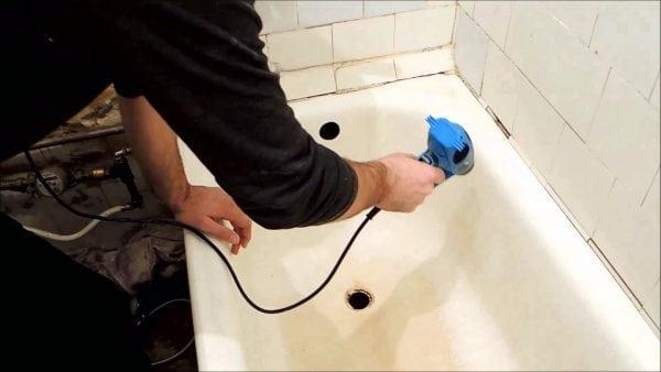 Подготовка ванны к эмалировке или нанесению акрила