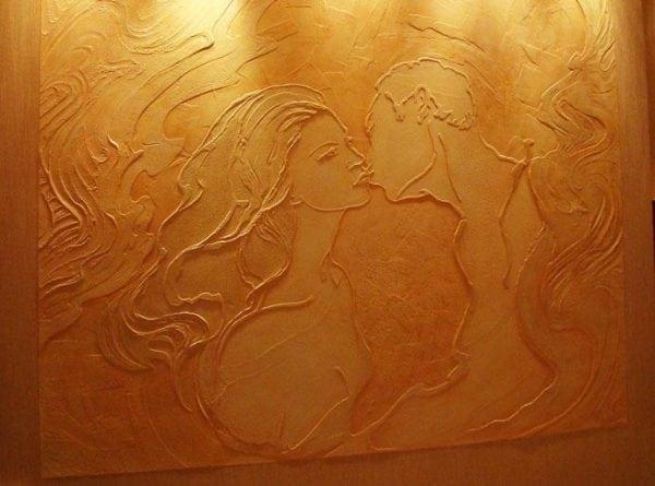 Флоковое покрытие стен шпаклевкой