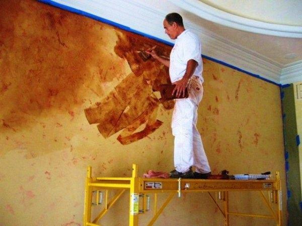 Технология нанесения венецианской краски