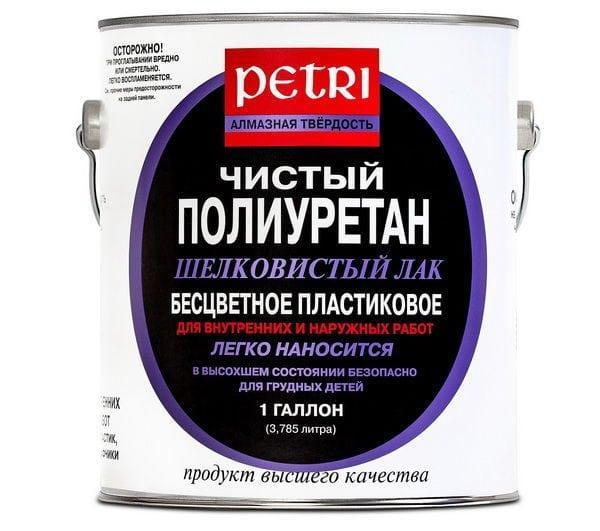 Полиуретановый лак для кирпича «Petri»