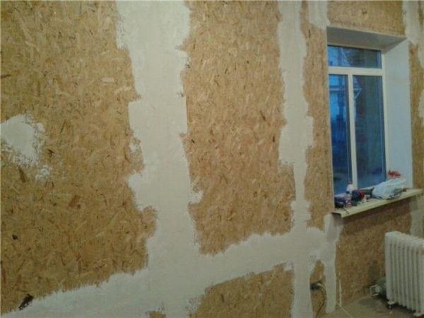 Шпаклевка стен из плит ОСБ