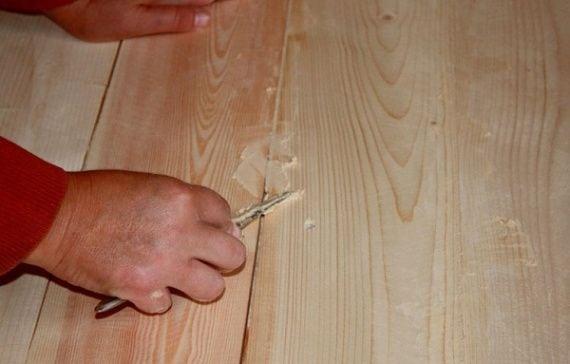 Техника шпаклевки деревянных полов
