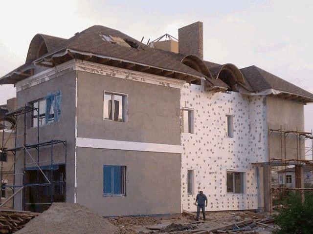 Морозостойкая шпаклевка для фасада загородного дома