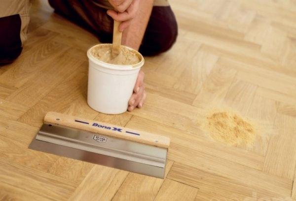 Шпаклевка для пола деревянного