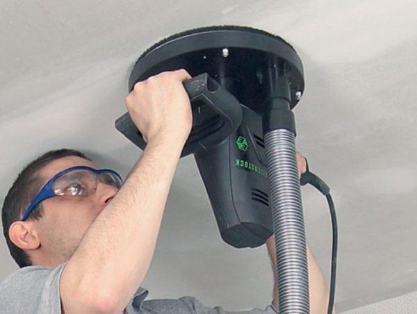 Подготовка потолка под покраску шлифовальной машиной