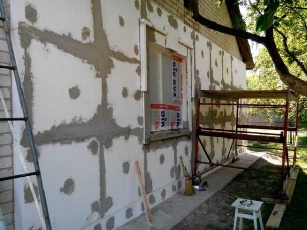 Шпаклевка стен утепленных пенопластом