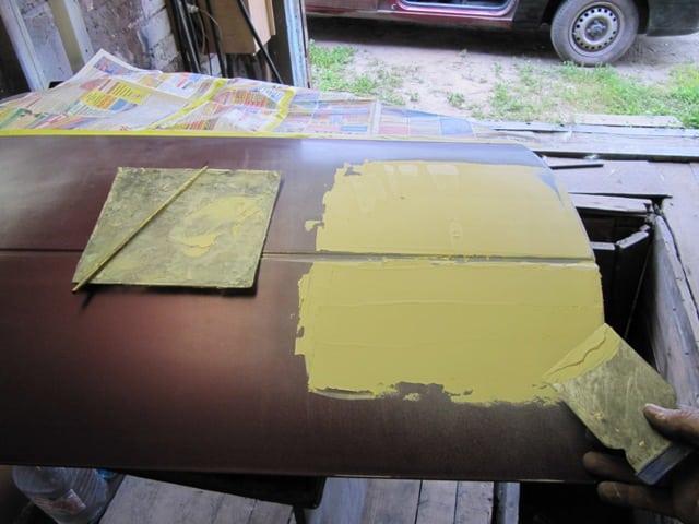 Изготовление шпатлевки по металлу васкон гидроизоляция