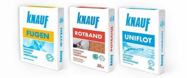 Сушие шпаклевочные смеси Knauf