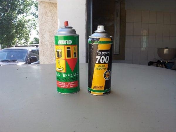 Аэрозоли для снятия краски