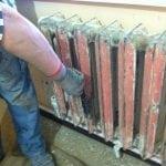 Удаление краски с радиаторов отопления