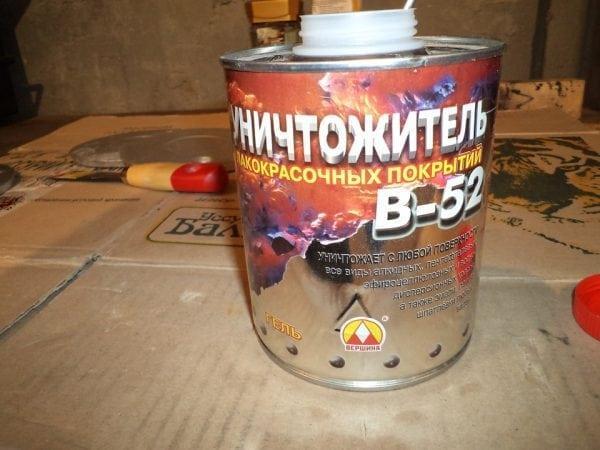 Химические средства для удаления старых красок