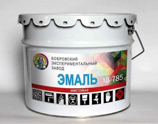 Перхлорвиниловый лак применяется совместно с эмалью ХВ-785