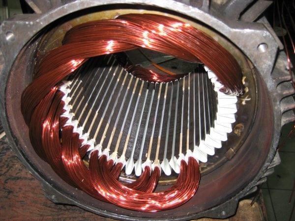 Обмотка электродвигателя покрытая лаком ФЛ-98