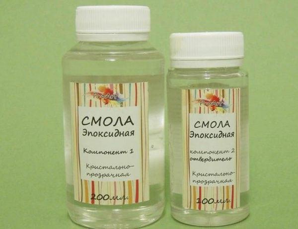 Эпоксидные лаки состоят из двух компонентов - смолы и отвердителя