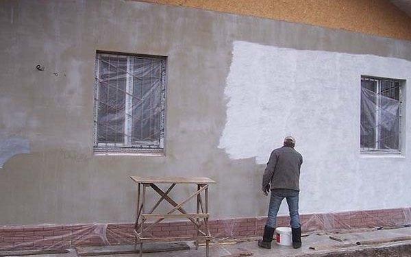 Подготовка фасада перед покраской