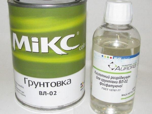 Двухкомпонентная грунтовка с кислотным разбавителем
