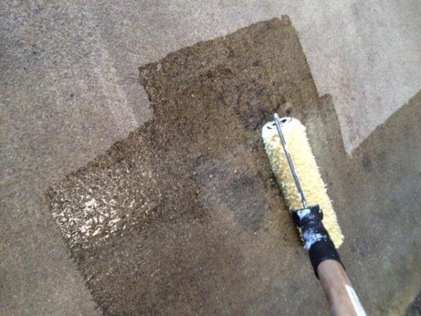 Обработка бетонной поверхности лаком ЭП-55