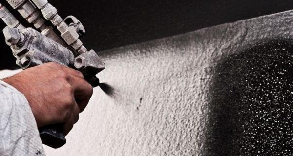 Нанесение теромостойкой краски с помощью распылителя