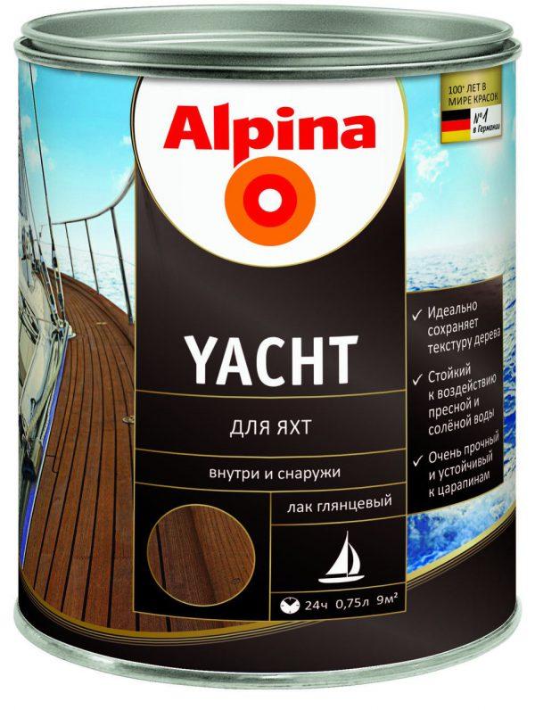 Яхтный лак фирмы Alpina