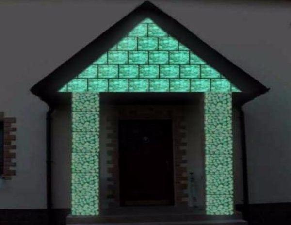 светящаяся фасад
