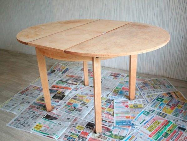 Ошкуренный стол